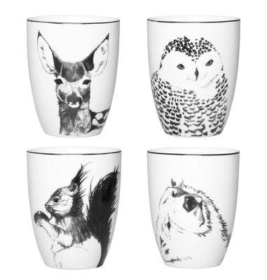 Arts de la table - Tasses et mugs - Mug Anouk winter / Set de 4 - & klevering - Noir & Blanc - Porcelaine