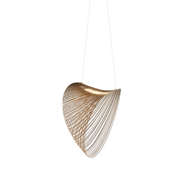 Lighting - Pendant Lighting - Illan LED Pendant - / Ø 60 cm - Wood by Luceplan - Ø 60 cm / Birch - Birch plywood