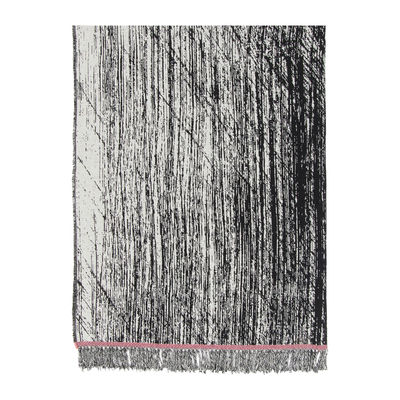 Déco - Textile - Plaid Kuiskaus / 140 x 180 cm - Marimekko - Kuiskaus / Noir & blanc - Coton, Laine, Polyamide