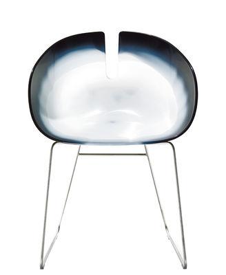 Image of Poltrona Fjord H di Moroso - Bianco/Nero - Materiale plastico