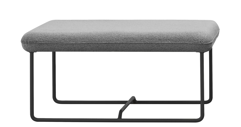 Arredamento - Pouf - Pouf Ultrasofa / 77 x 59 cm - Fermob - Grigio perla / Struttura carbone - Acciaio, Espanso, Tessuto acrilico