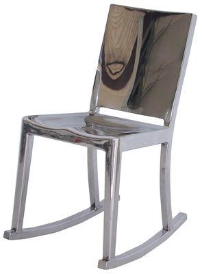 Arredamento - Poltrone design  - Rocking chair Hudson Indoor di Emeco - Alluminio lucido - Alluminio lucido riciclato