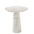 Disc Round table - / Ø 70 x H 75 cm - Marble-effect resin by Pols Potten
