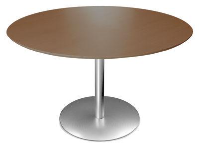 Möbel - Tische - Rondo Runder Tisch Ø 90 cm - Lapalma - Wenge - rostfreier Stahl, wenge-getönte Eiche