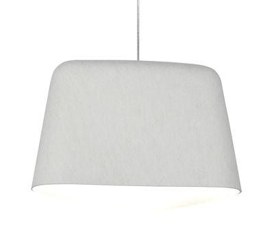 Illuminazione - Lampadari - Sospensione Felt - / Feltro di Tom Dixon - Bianco - Feltro