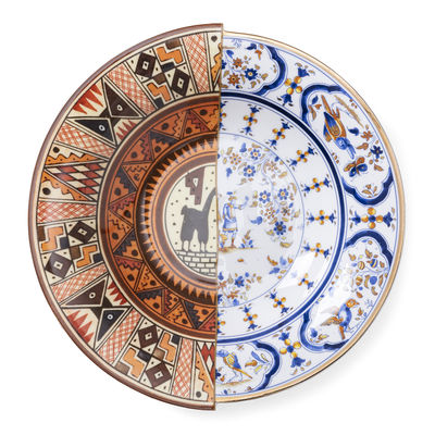 Tableware - Plates - Hybrid Tula Soup plate - / Ø 25 cm by Seletti - Tula - China