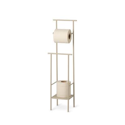 Accessories - Bathroom Accessories - Dora Toilet paper holder - / Metal by Ferm Living - Cashmere beige - Metal