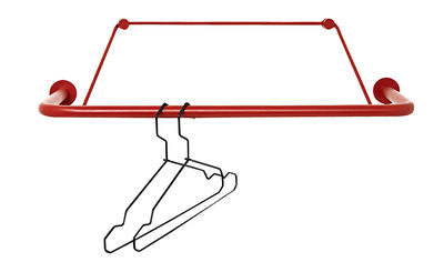 Image of Porta abiti Gravity a parete / L 60 cm - Nomess - Rosso - Metallo/Materiale plastico