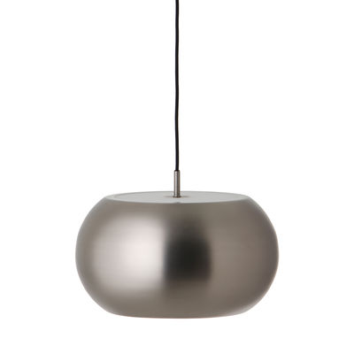 Luminaire - Suspensions - Suspension BF20 Large / Ø 38 cm - Frandsen - Satiné brossé mat - Acrylique, Métal