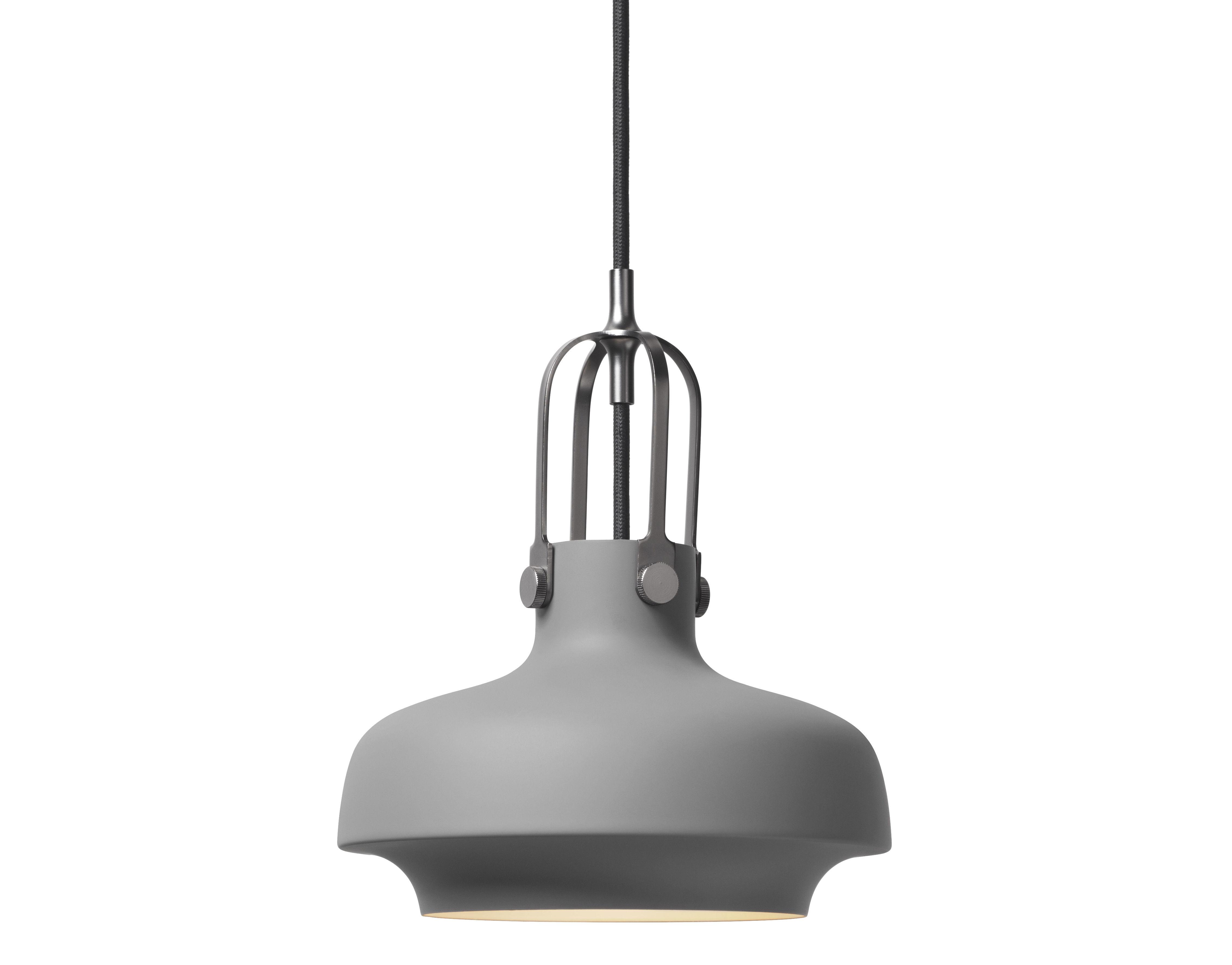 Luminaire - Suspensions - Suspension Copenhague SC6 / Ø 20 cm - Métal - &tradition - Métal / Gris mat - Métal laqué