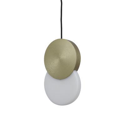 Suspension Duo LED - ENOstudio blanc,or en métal