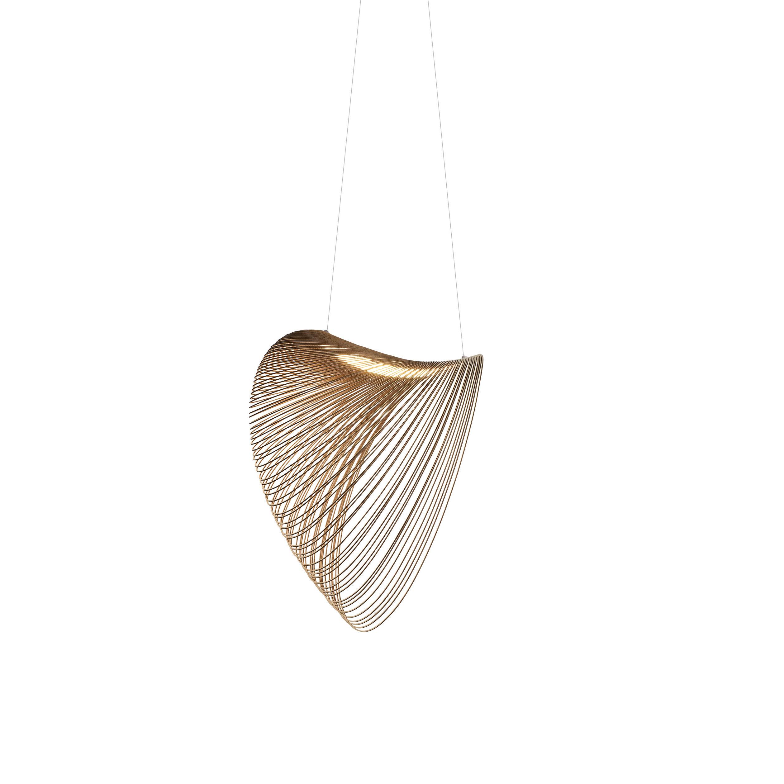 Luminaire - Suspensions - Suspension Illan LED / Ø 60 cm - Bois - Luceplan - Ø 60 cm / Bouleau - Contreplaqué de bouleau