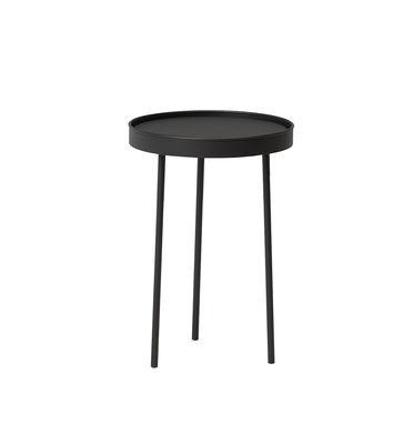 Table basse Stilk Small / Ø 35 x H 50 cm - Northern noir en bois