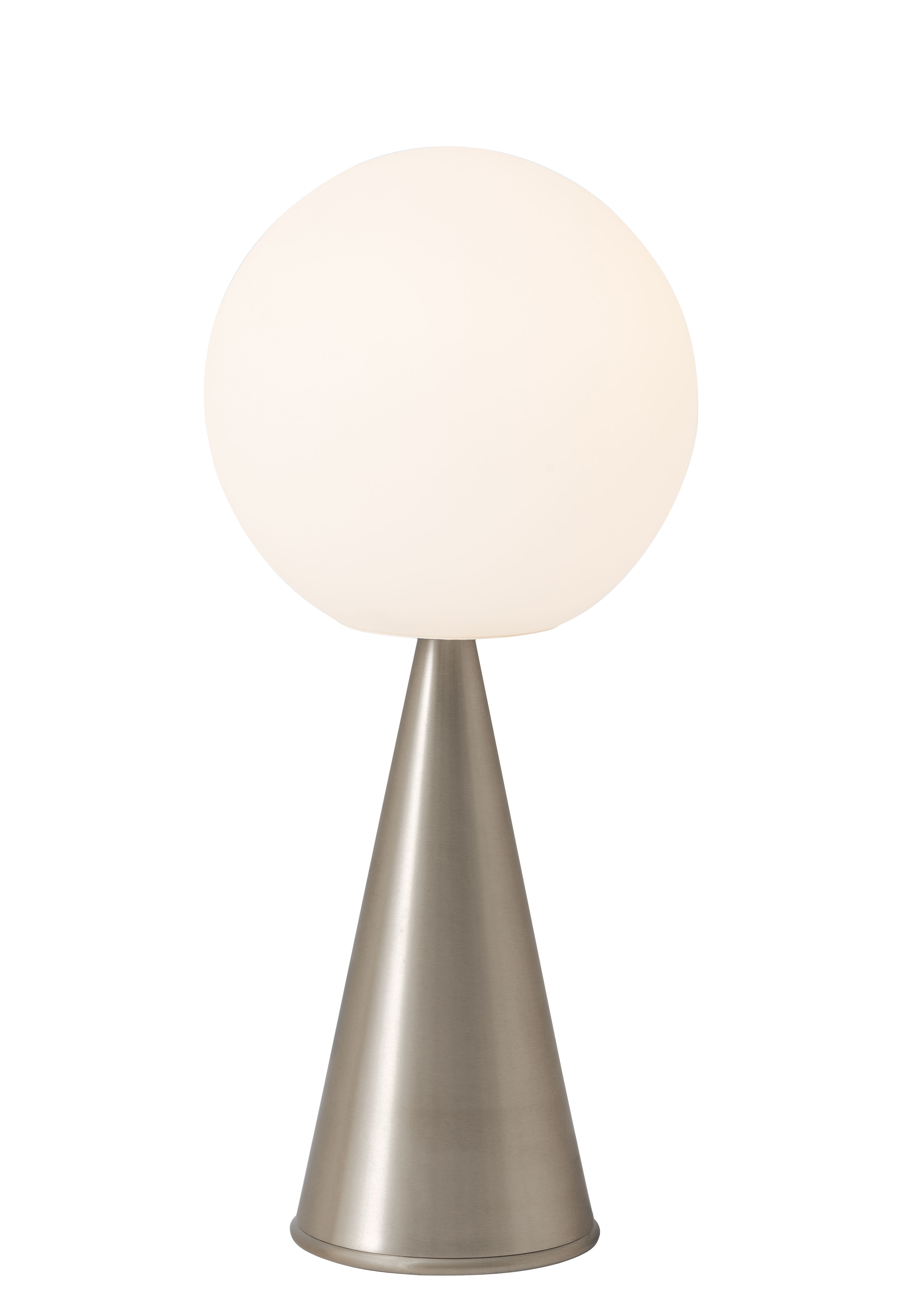 Lighting - Table Lamps - Bilia Table lamp - / H 43 cm - By Gio Ponti (1932) by Fontana Arte - Nickel - Brushed nickel-plated metal, Satin blown glass