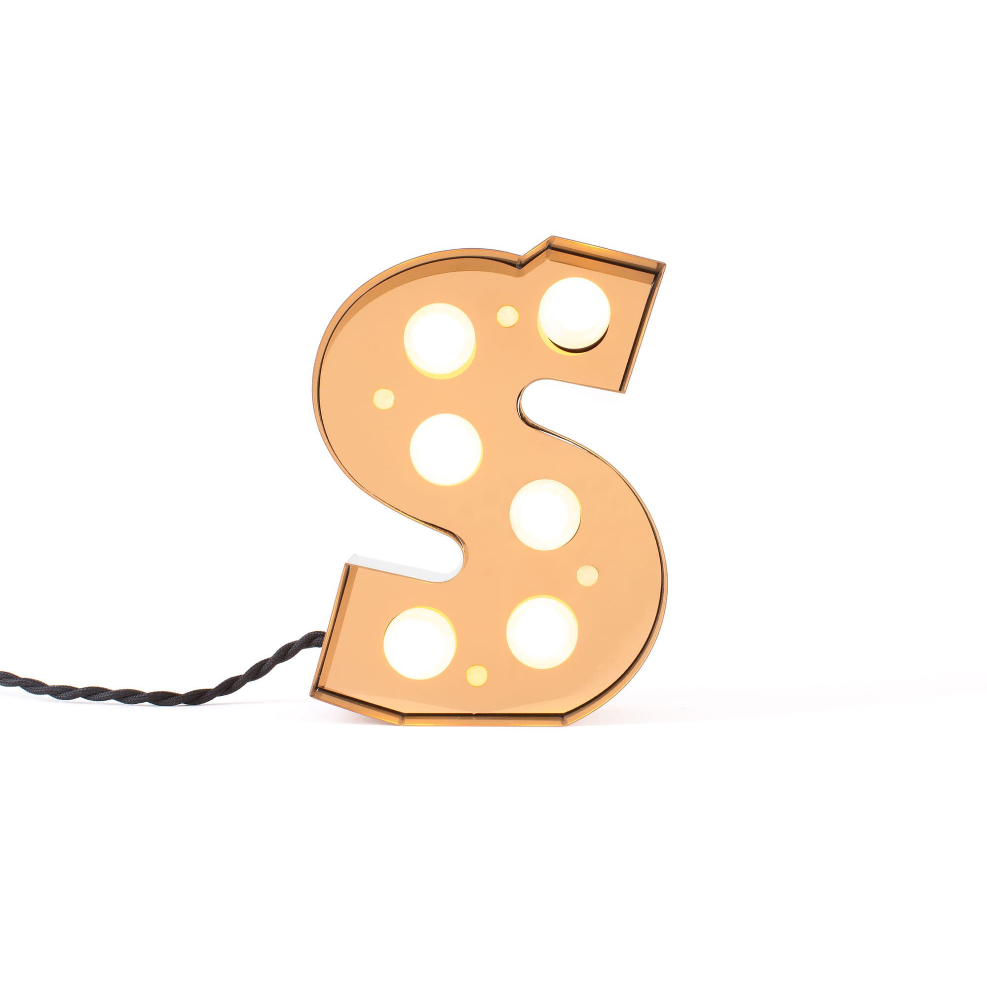 Decoration - Children's Home Accessories - Caractère Table lamp - / Wall light - Letter S - H 20 cm by Seletti - S - Lacquered metal