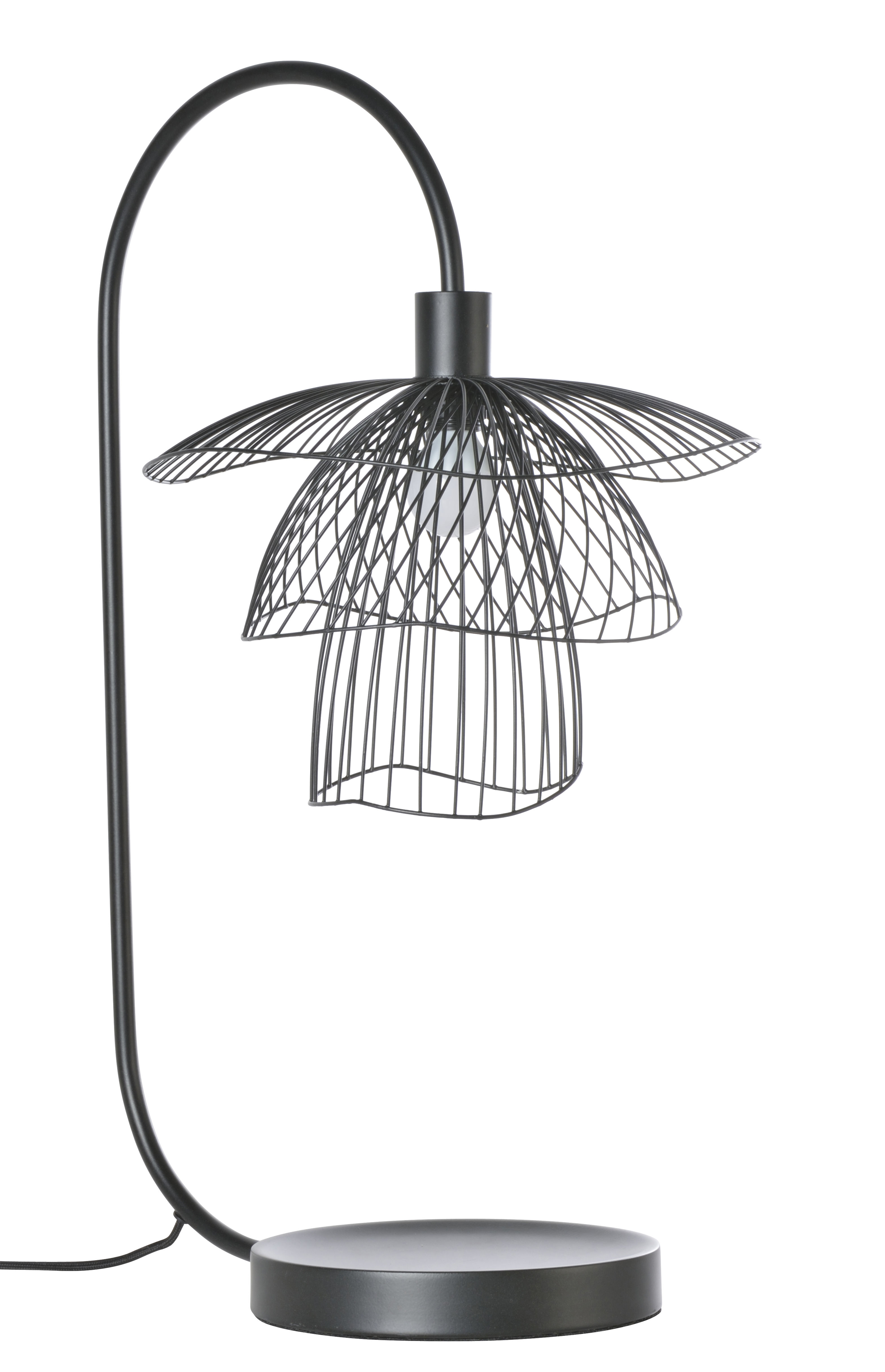 Lighting - Table Lamps - Papillon Table lamp - / H 62 cm by Forestier - Black - Powder coated steel