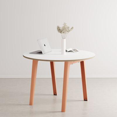 Table ronde New Modern / Ø 110 cm - Stratifié / 4 à 6 personnes - TIPTOE rose en métal/bois