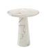 Tavolo rotondo Disc - / Ø 70 x H 75 cm - Resina effetto Marmo di Pols Potten