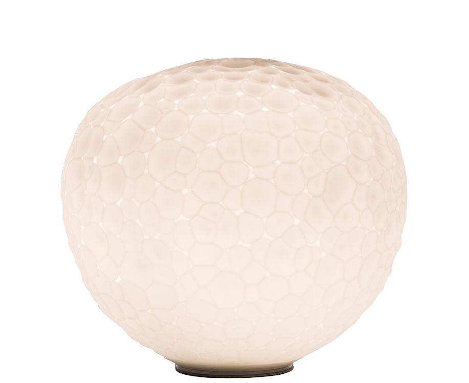Leuchten - Tischleuchten - Meteorite Tischleuchte / Ø 15 cm - limitierte Auflage - Artemide - Weiß - geblasenes Glas