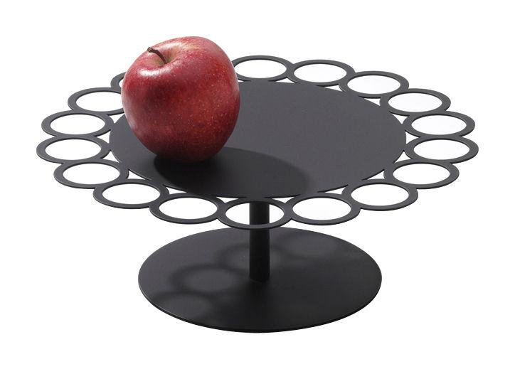 Tableware - Serving Plates - Giocorotondo Tray - Ø 32 x H 15,5 cm by Serafino Zani - Black steel - Stainless steel