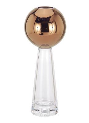 Vase Tank Haut / Ø 11 cm x H 29 cm - Tom Dixon cuivre,transparent en verre