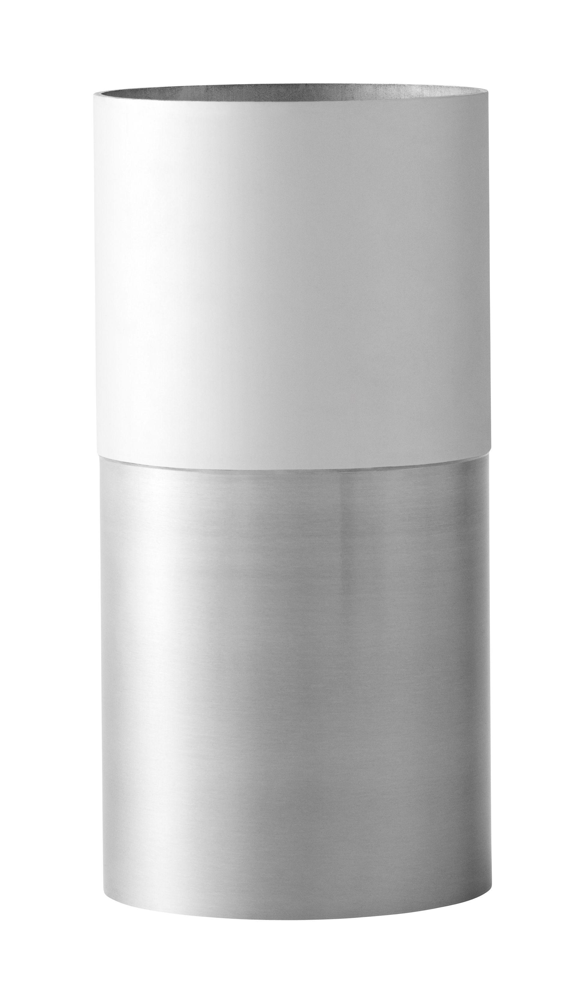 Dekoration - Vasen - True Colour LP1 Vase / Aluminium - Ø 10 x H 20 cm - &tradition - Aluminium & weiß - Aluminium