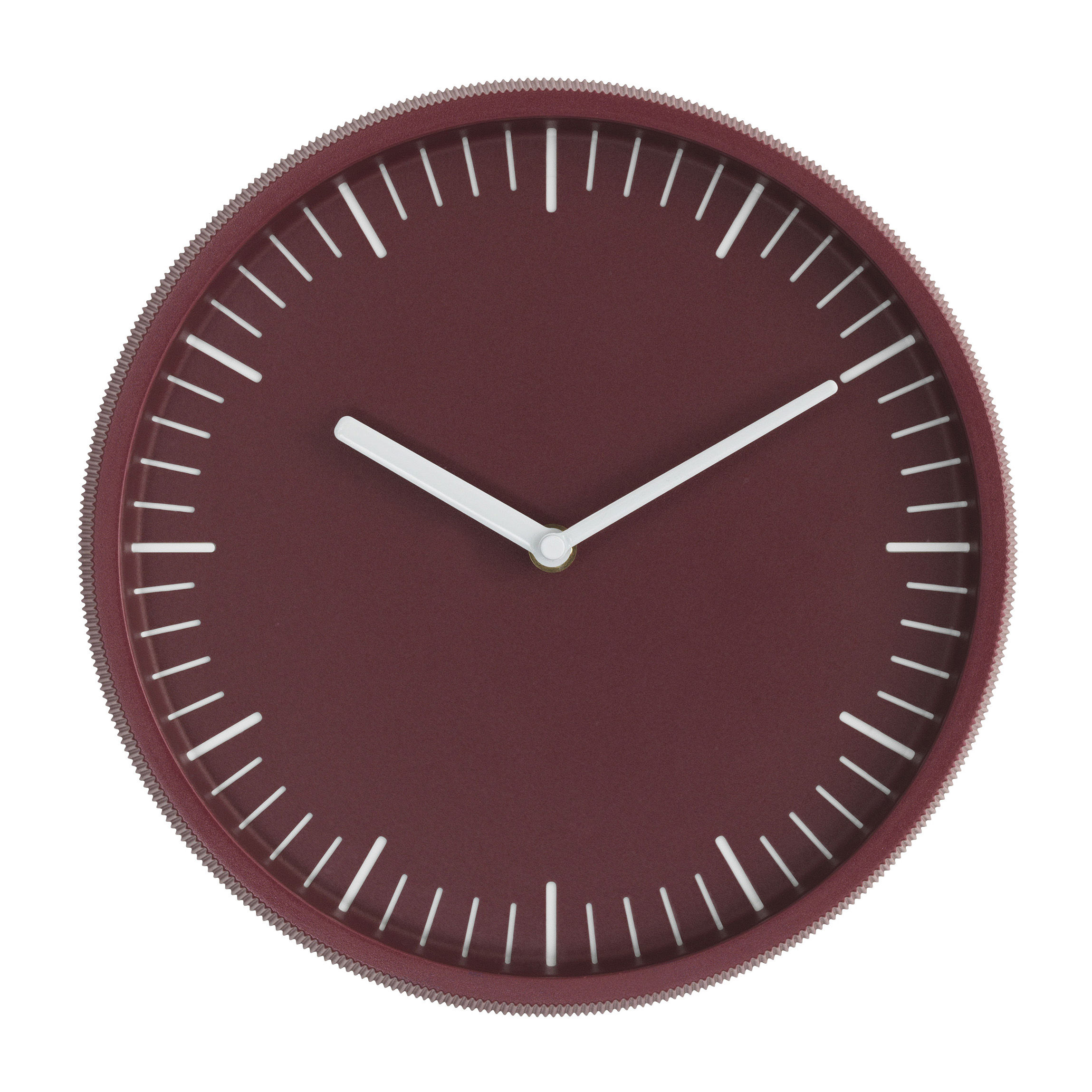Decoration - Wall Clocks - Day Wall clock - / Steel - Ø 28 cm by Normann Copenhagen - Burgundy - Cast aluminium, Glass