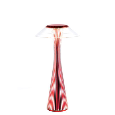 Lighting - Table Lamps - Space Indoor Wireless lamp - / LED - Rechargeable - Limited edition by Kartell - Metallic red - ABS, PMMA
