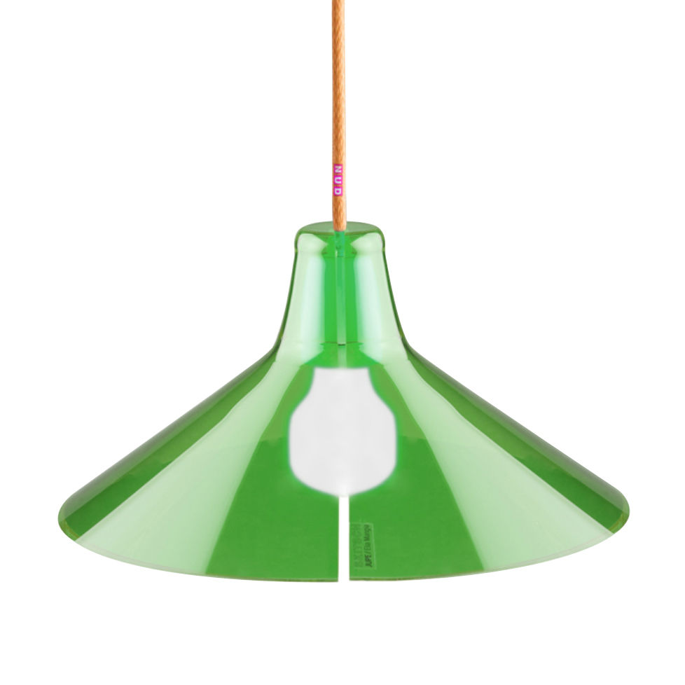 Luminaire - Suspensions - Abat-jour Jupe Large Ø 31 cm - Skitsch - Vert - Méthacrylate