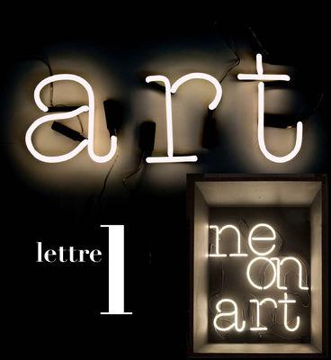 Applique avec prise Neon Art / Lettre L - Seletti blanc en verre