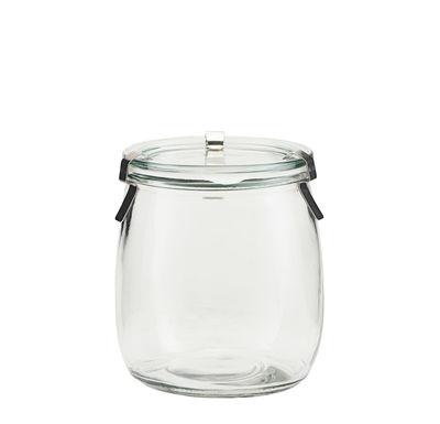 Bocal hermétique Use / 800 ml - H 12,2 cm - House Doctor argent,transparent en verre