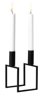 Decoration - Candles & Candle Holders - Line 2 Candelabra - Reissue 1983 by by Lassen - Black - Lacquered steel