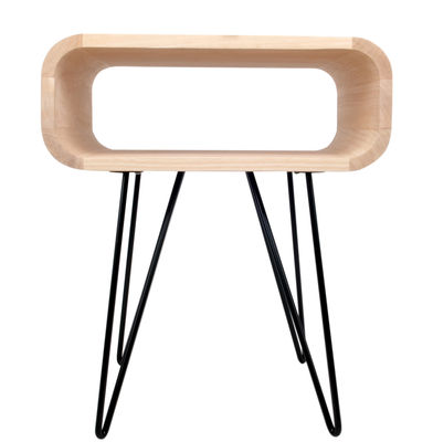 Furniture - Coffee Tables - Metro End End table by XL Boom - Natural wood / Black - Hevea wood, Painted metal