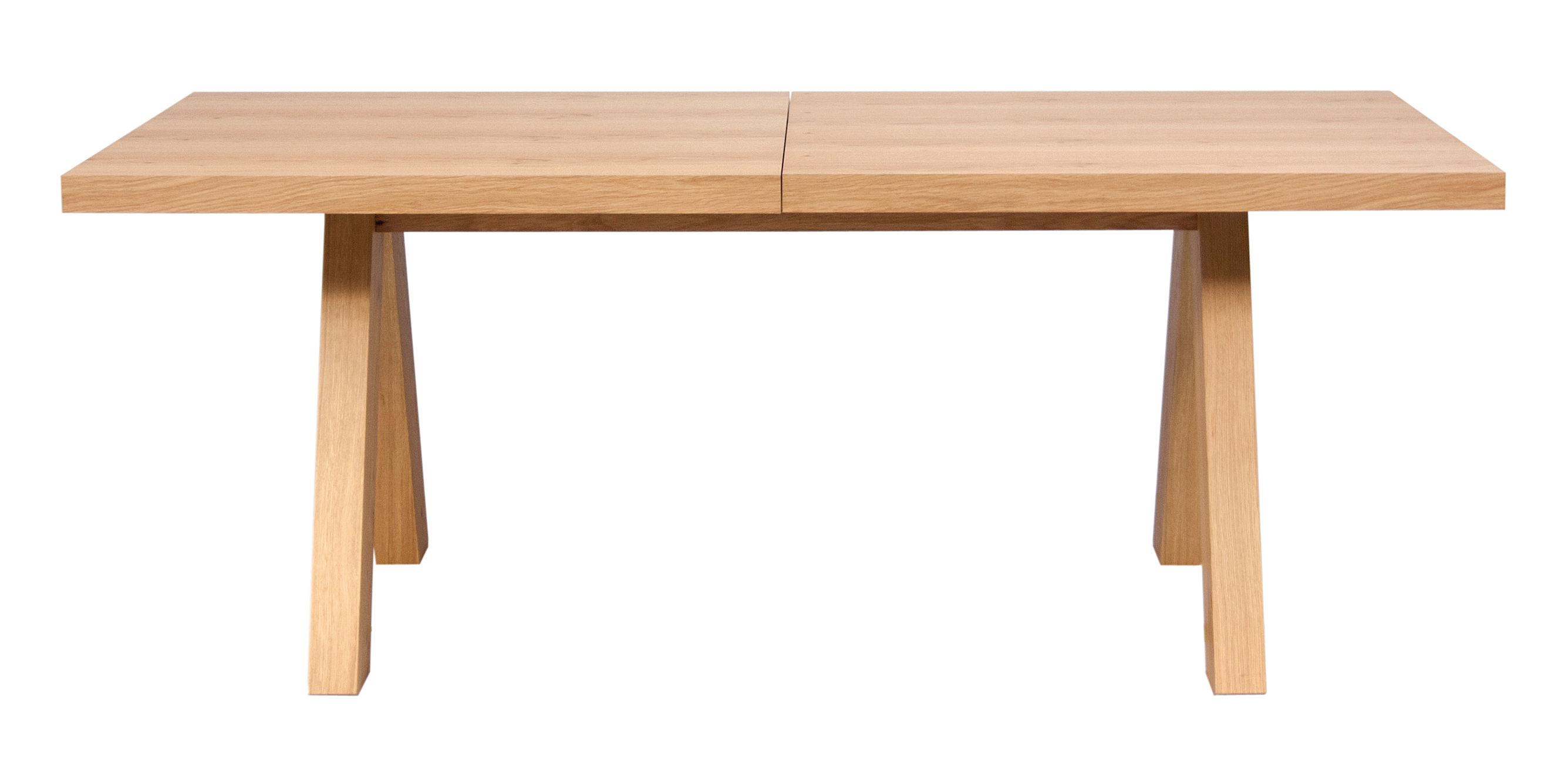 Furniture - Dining Tables - Oak Extending table - L 200 to 250 cm by POP UP HOME - Wild oak - Honeycomb panels with oak veneer, MDF veneer oak