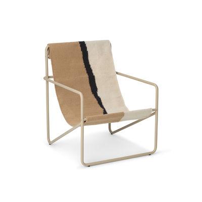 Fauteuil enfant Desert / Structure beige - Bouteilles plastique recyclées - Ferm Living beige en tissu