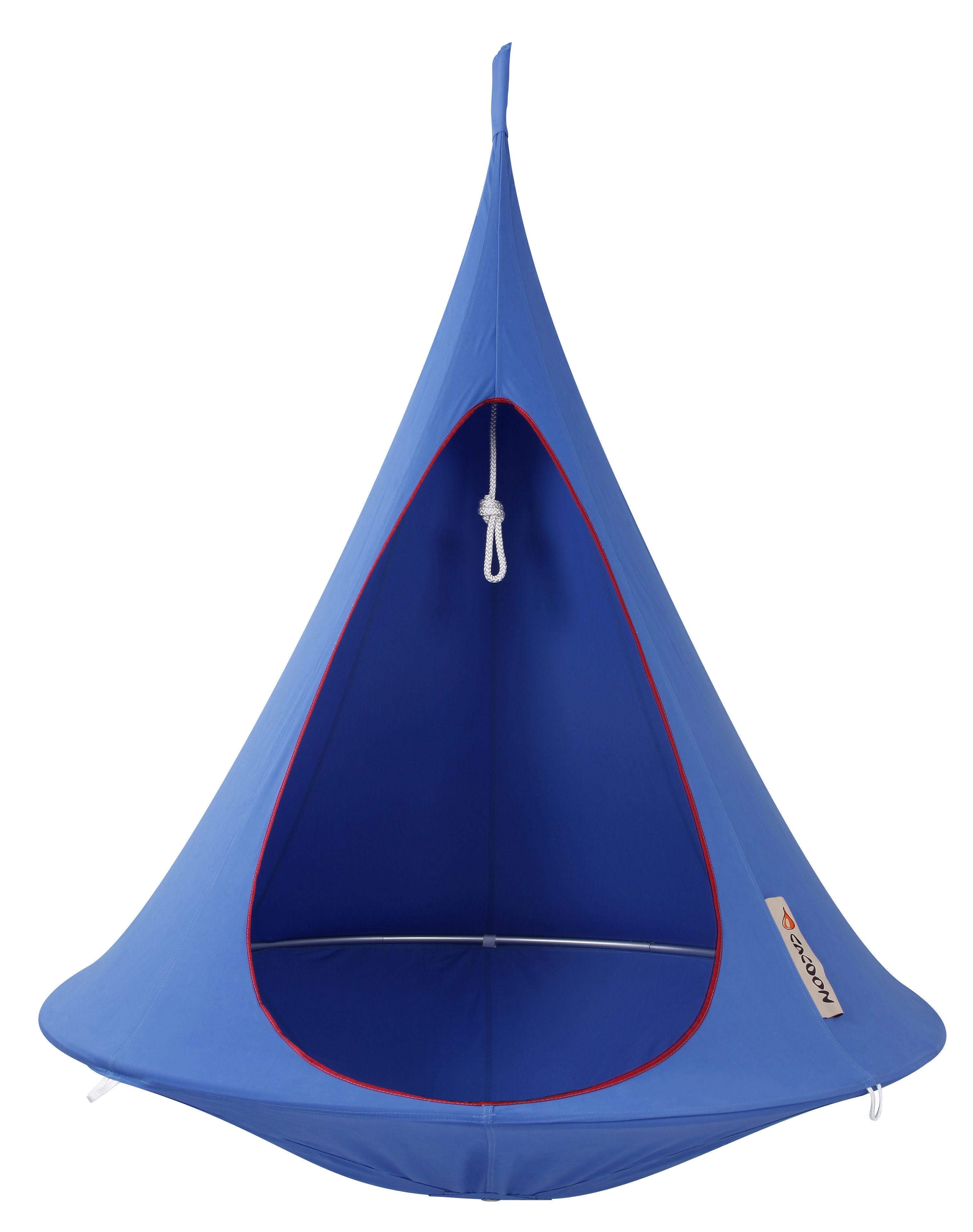 Jardin - Chaises longues et hamacs - Fauteuil suspendu / Tente -Ø 150 cm - 1 personne - Cacoon - Bleu ciel - Aluminium anodisé, Toile