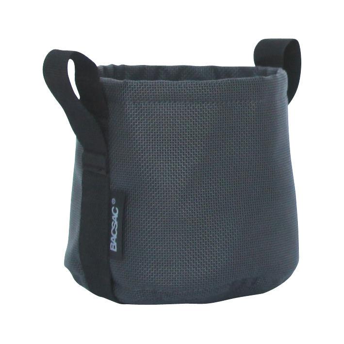 Outdoor - Pots & Plants - Batyline® Flowerpot - Outdoor - 3 L by Bacsac - Black asphalt - Batyline® fabric