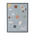 I need More Space Framed poster - / L 52 x H 72 cm - Pine frame by Bloomingville