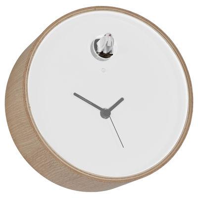 horloge murale plex coucou cadre bois cadran blanc diamantini domeniconi made in design. Black Bedroom Furniture Sets. Home Design Ideas