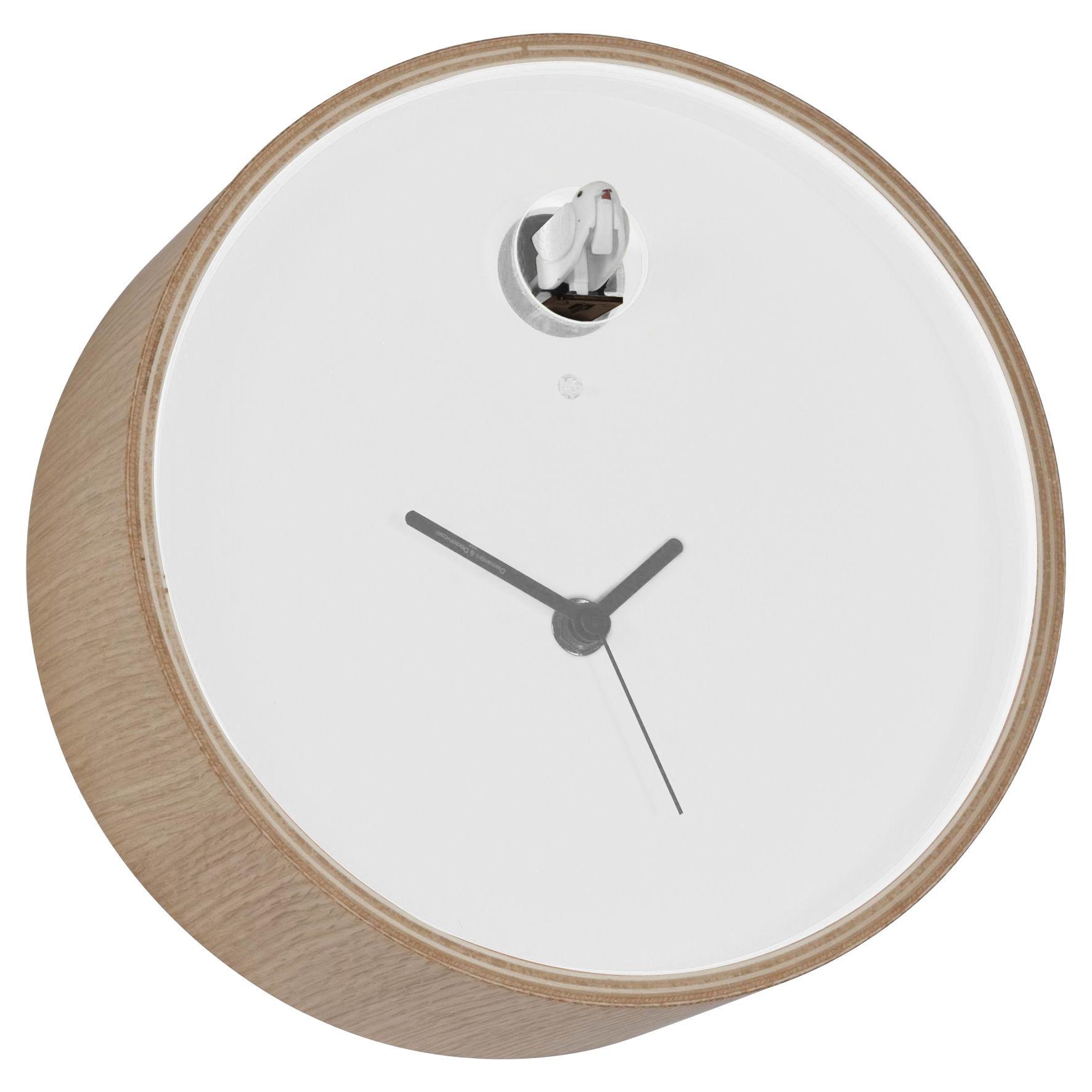 Déco - Horloges  - Horloge murale Plex à coucou - Diamantini & Domeniconi - Cadre bois / cadran blanc - Multiplis de bouleau laqué, Plexiglas