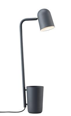 Illuminazione - Lampade da tavolo - Lampada da tavolo Buddy / Metallo - Vaso integrato - Northern Lighting - Grigio scuro - Acciaio verniciato