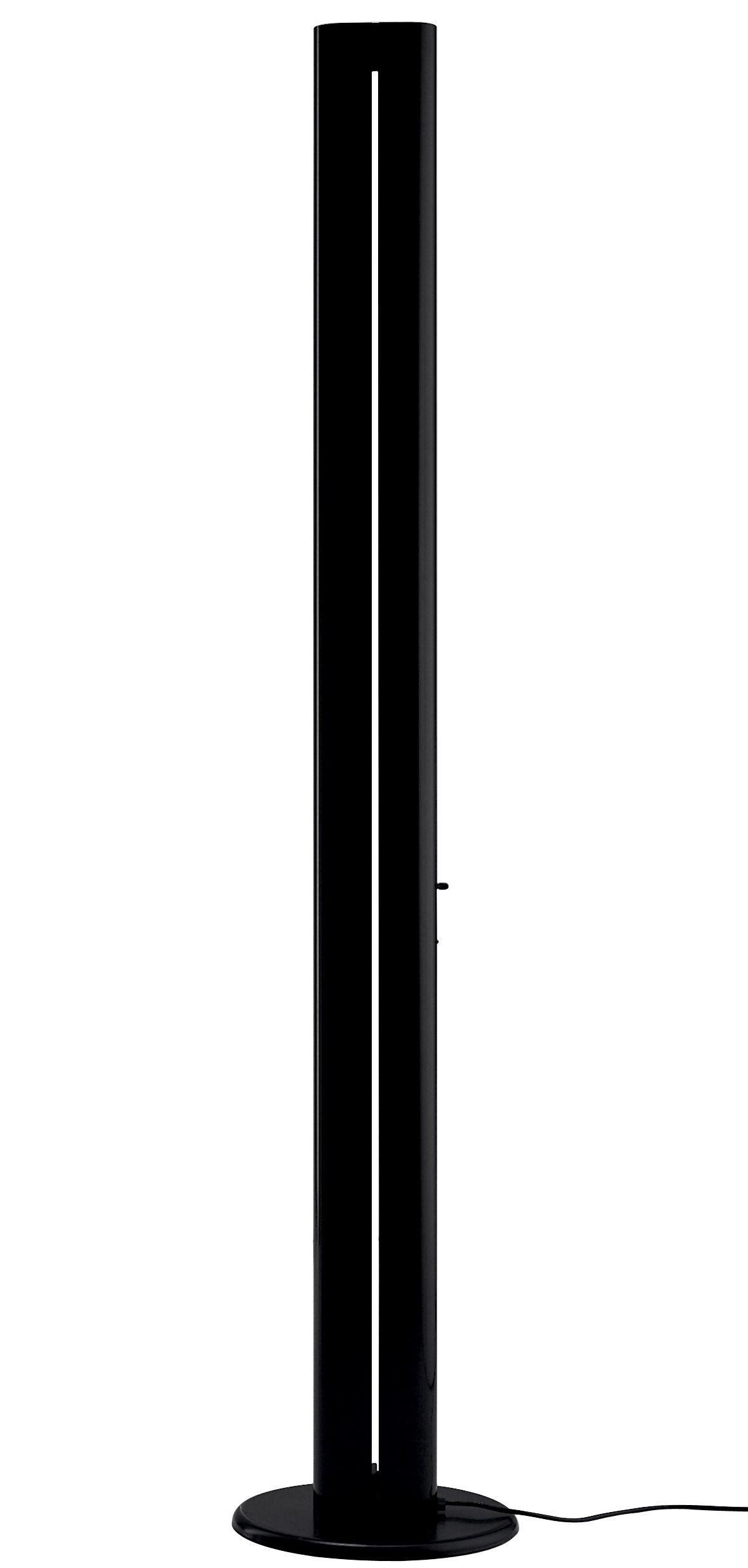 Luminaire - Lampadaires - Lampadaire Megaron LED / H 182 cm - Artemide - Noir - Acier, Aluminium verni