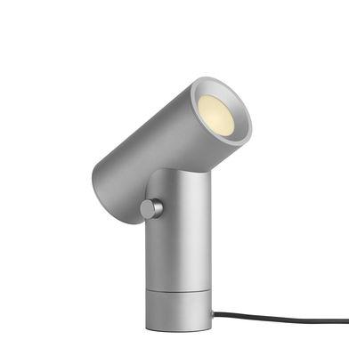 Lampe de table Beam / Double source lumineuse - Base rotative - Muuto aluminium en métal