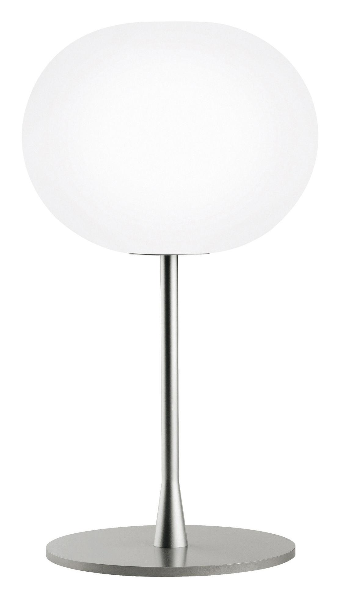 Luminaire - Lampes de table - Lampe de table Glo-Ball T1 / H 60 cm - Verre soufflé bouche - Flos - Gris métallisé - Acier, Verre soufflé bouche