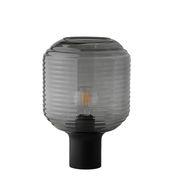 Lampe de table Honey / Verre & bois - Frandsen noir,gris fumé en verre