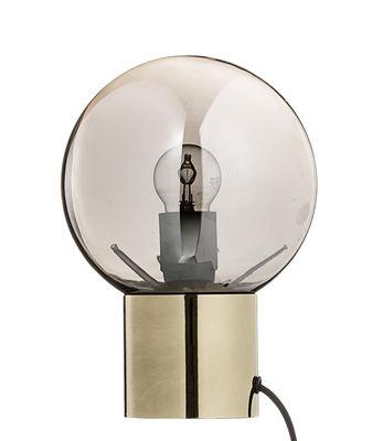 Lampe de table / Verre finition miroir - Bloomingville or en verre