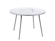 Table ronde Lorette Ø 110 cm Métal perforé Fermob blanc coton en métal