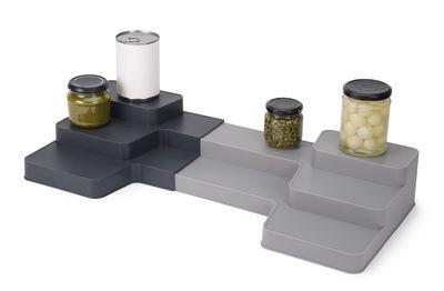 Kitchenware - Kitchen Storage Jars - Cupboard organiser - extendable / 3 levels - L 42 to 62 cm x D 26 cm by Joseph Joseph - Grey - Polypropylene