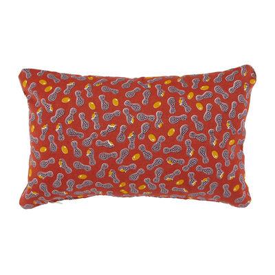 Decoration - Cushions & Poufs - Envie d'ailleurs - Cacahuètes Outdoor cushion - / 44 x 30 cm by Fermob - Ochre red - Foam, Water repellant cotton