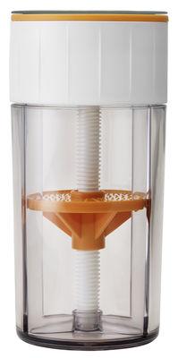Kitchenware - Kitchen Equipment - Parmesan mill - / Box by Stelton - White / Orange - Plastic material, Stainless steel
